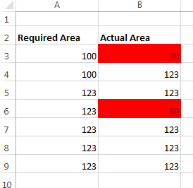 Excel - conditional formatting