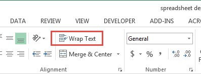Excel - word wrap