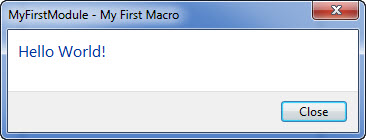 Revit macro - Hello World