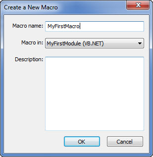 Revit Macro Manager - new macro