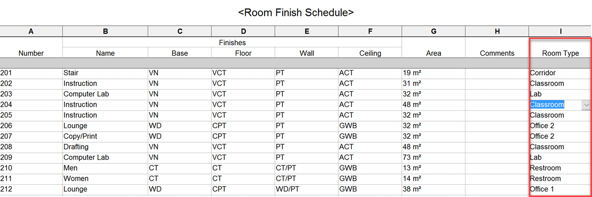 How To Make A New Room Schedule In Revit